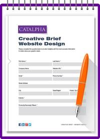 Catalpha creative brief - websit -design
